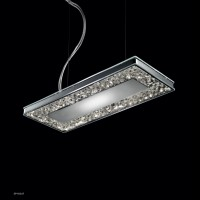 MALE' SP H/267 wisząca 1 x max 80W R7s 78 mm + STRIP LED 7W/10 transparent/31 chrome