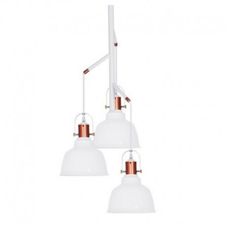 Lampa wisząca DARLING GLASS 3 LINE MD71940A-3A white