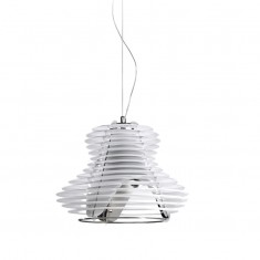 FARETTO Lampa wisząca SINGLE WHITE